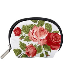 Flower Rose Pink Red Romantic Accessory Pouches (small)