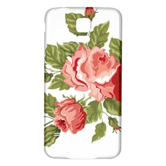 Flower Rose Pink Red Romantic Samsung Galaxy S5 Back Case (white)