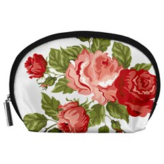 Flower Rose Pink Red Romantic Accessory Pouches (large)