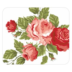 Flower Rose Pink Red Romantic Double Sided Flano Blanket (Small)