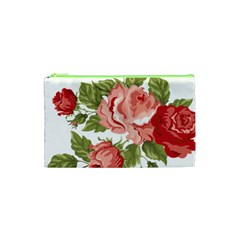 Flower Rose Pink Red Romantic Cosmetic Bag (xs)