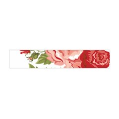Flower Rose Pink Red Romantic Flano Scarf (Mini)