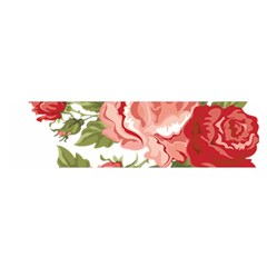 Flower Rose Pink Red Romantic Satin Scarf (oblong)