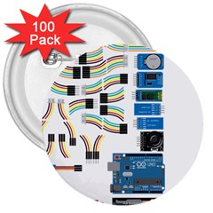 Arduino Arduino Uno Electronic 3  Buttons (100 Pack)