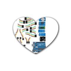 Arduino Arduino Uno Electronic Rubber Coaster (heart)