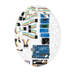 Arduino Arduino Uno Electronic Oval Filigree Ornament (two Sides)