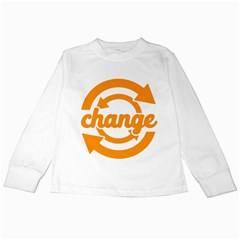 Think Switch Arrows Rethinking Kids Long Sleeve T Shirts
