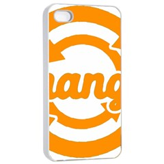 Think Switch Arrows Rethinking Apple iPhone 4/4s Seamless Case (White)