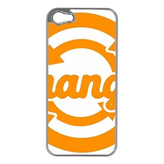 Think Switch Arrows Rethinking Apple Iphone 5 Case (silver)