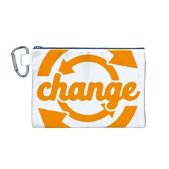 Think Switch Arrows Rethinking Canvas Cosmetic Bag (m)