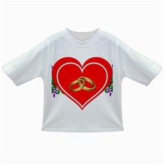 Heart Flowers Ring Infant/toddler T Shirts