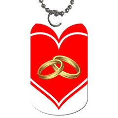 Heart Flowers Ring Dog Tag (Two Sides)