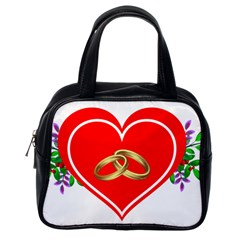 Heart Flowers Ring Classic Handbags (one Side)