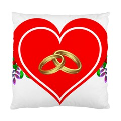 Heart Flowers Ring Standard Cushion Case (One Side)