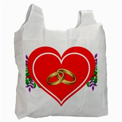 Heart Flowers Ring Recycle Bag (One Side)