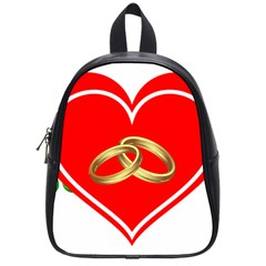 Heart Flowers Ring School Bags (small)