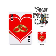 Heart Flowers Ring Playing Cards 54 (mini)
