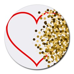 Heart Transparent Background Love Round Mousepads