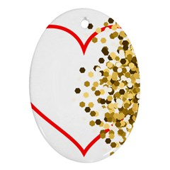 Heart Transparent Background Love Ornament (oval)