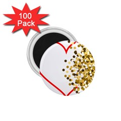 Heart Transparent Background Love 1 75  Magnets (100 Pack)