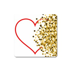 Heart Transparent Background Love Square Magnet