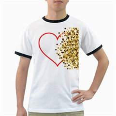 Heart Transparent Background Love Ringer T Shirts