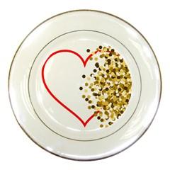 Heart Transparent Background Love Porcelain Plates