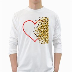 Heart Transparent Background Love White Long Sleeve T Shirts