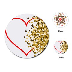 Heart Transparent Background Love Playing Cards (round)