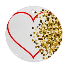 Heart Transparent Background Love Round Ornament (two Sides)