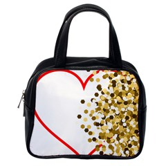Heart Transparent Background Love Classic Handbags (One Side)
