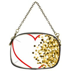 Heart Transparent Background Love Chain Purses (two Sides)