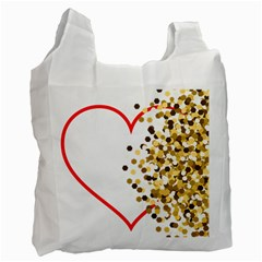 Heart Transparent Background Love Recycle Bag (two Side)