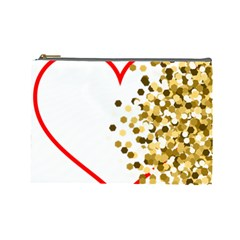 Heart Transparent Background Love Cosmetic Bag (Large)