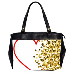 Heart Transparent Background Love Office Handbags (2 Sides)