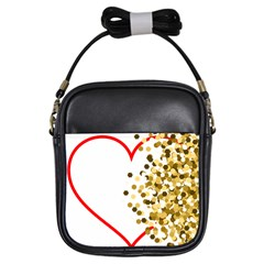 Heart Transparent Background Love Girls Sling Bags