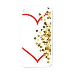 Heart Transparent Background Love Apple Iphone 4 Case (white)