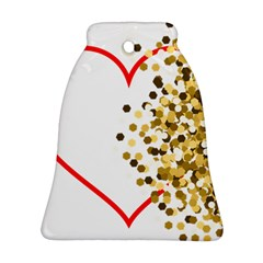 Heart Transparent Background Love Ornament (bell)