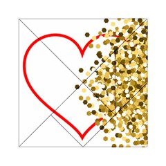 Heart Transparent Background Love Acrylic Tangram Puzzle (6  X 6 )