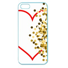 Heart Transparent Background Love Apple Seamless Iphone 5 Case (color)
