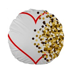 Heart Transparent Background Love Standard 15  Premium Round Cushions