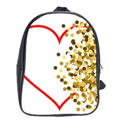 Heart Transparent Background Love School Bags (XL)