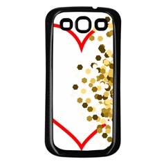 Heart Transparent Background Love Samsung Galaxy S3 Back Case (black)