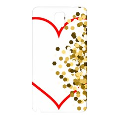 Heart Transparent Background Love Samsung Galaxy Note 3 N9005 Hardshell Back Case