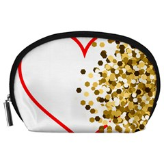 Heart Transparent Background Love Accessory Pouches (Large)