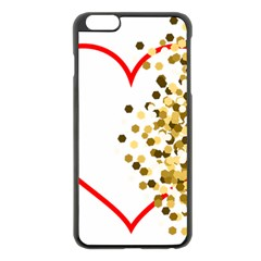 Heart Transparent Background Love Apple Iphone 6 Plus/6s Plus Black Enamel Case