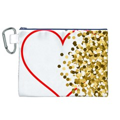 Heart Transparent Background Love Canvas Cosmetic Bag (xl)