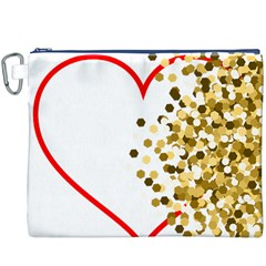 Heart Transparent Background Love Canvas Cosmetic Bag (XXXL)
