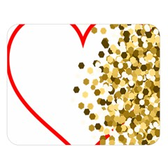 Heart Transparent Background Love Double Sided Flano Blanket (large)