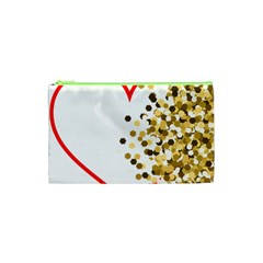 Heart Transparent Background Love Cosmetic Bag (xs)
